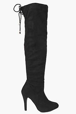 Stretch Over Knee Pointed Boots