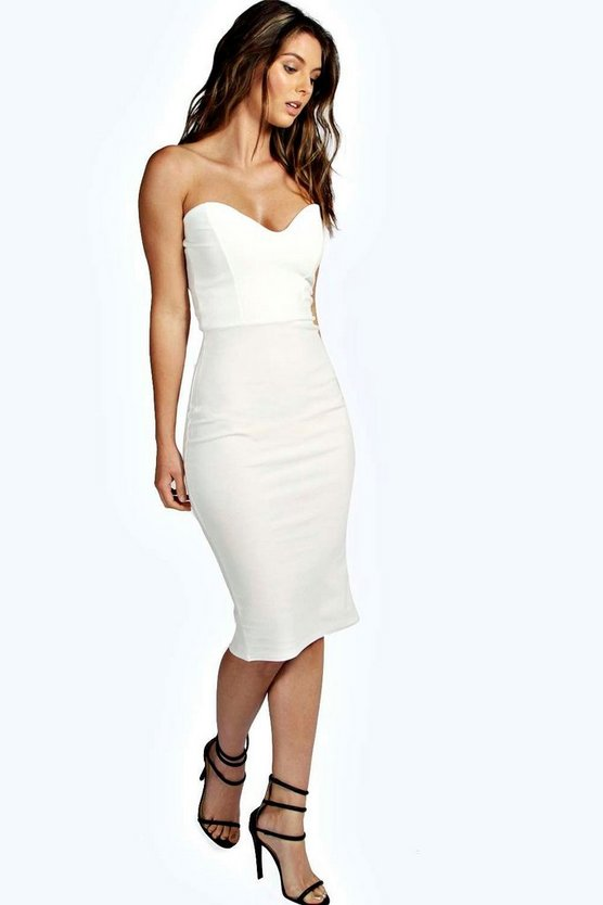 Crepe Bandeau Bodycon Dress