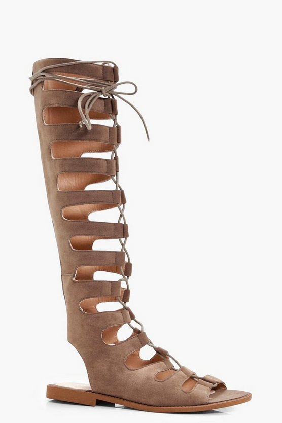 Tara Knee High Gladiator Sandals