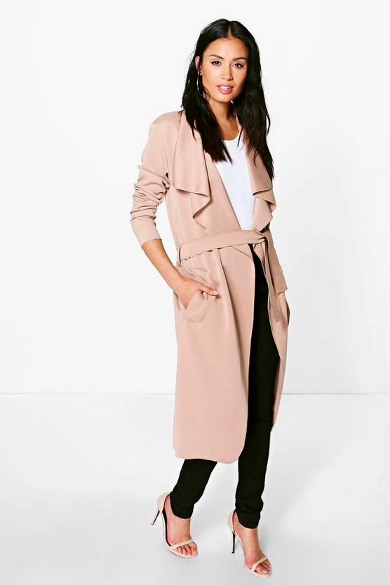 Shawl Collar Belted Duster