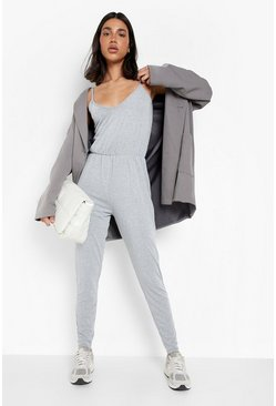 Grey marl Basic Cami Jumpsuit