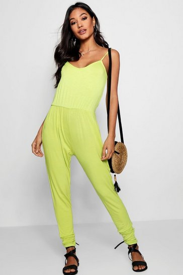 Womens Lime Basic Cami Jumpsuit