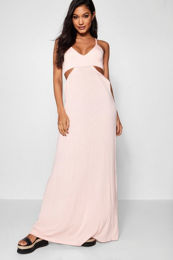 Cut Out Strappy Maxi Dress