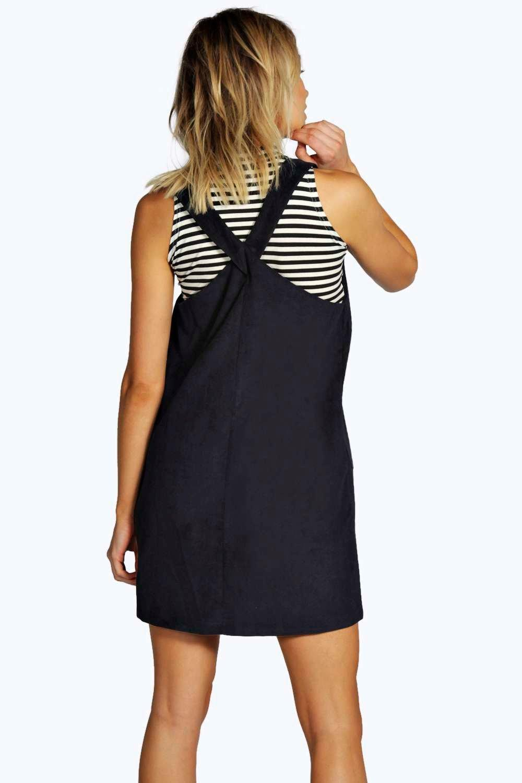 boohoo eliana robe chasuble en velours c tel pour femme ebay. Black Bedroom Furniture Sets. Home Design Ideas