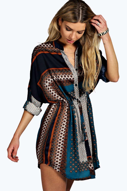 35868629a542 Paisley Shirt Dress | Boohoo
