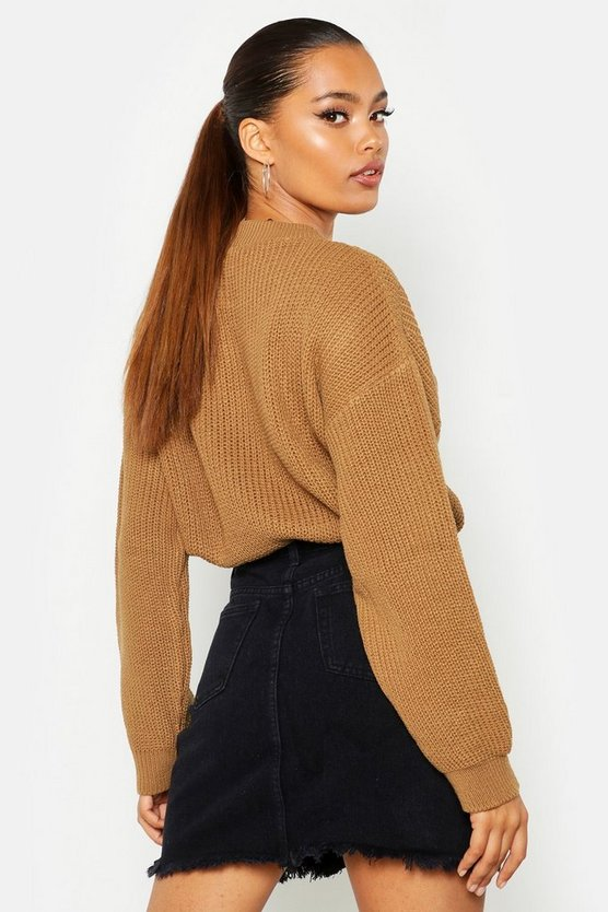 Open Knit Turtle Neck Jumper