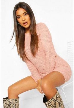 Blush Soft Knit Jumper Dress