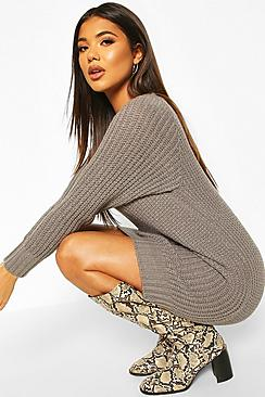 Soft Knit Sweater Dress