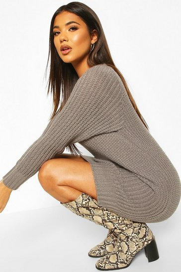Smoke Soft Knit Jumper Dress