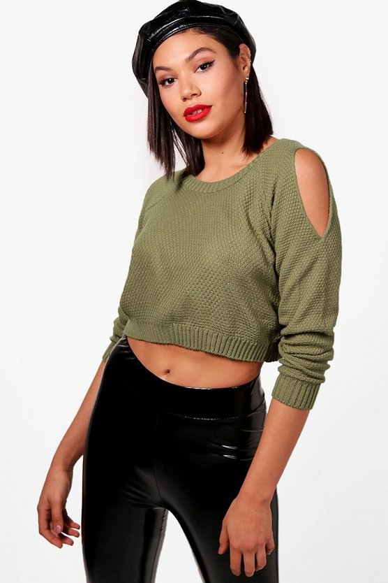 Cold Shoulder Crop Jumper