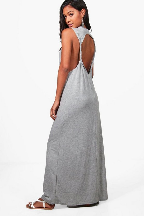 Twist Back Detail Maxi Dress