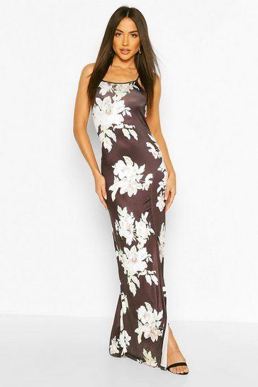 Multi Slinky Back Detail Maxi Dress