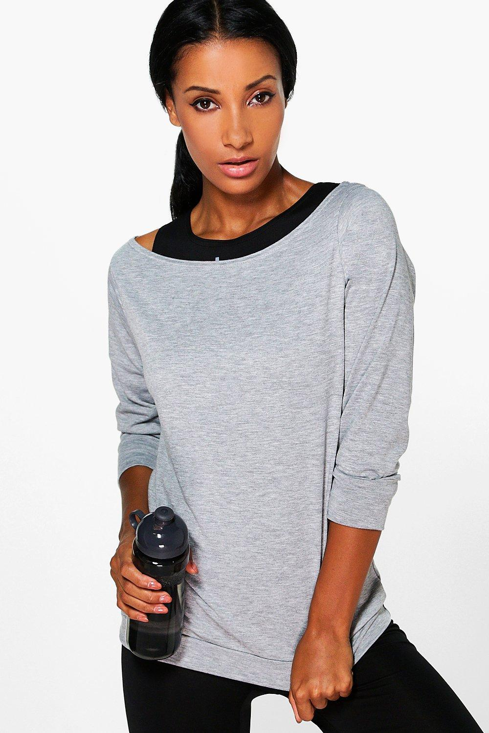 ace2edda9c15bd Edie Off The Shoulder Running Tee. Hover to zoom