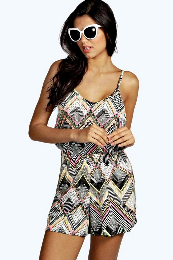 Blaire String Back Aztec Playsuit
