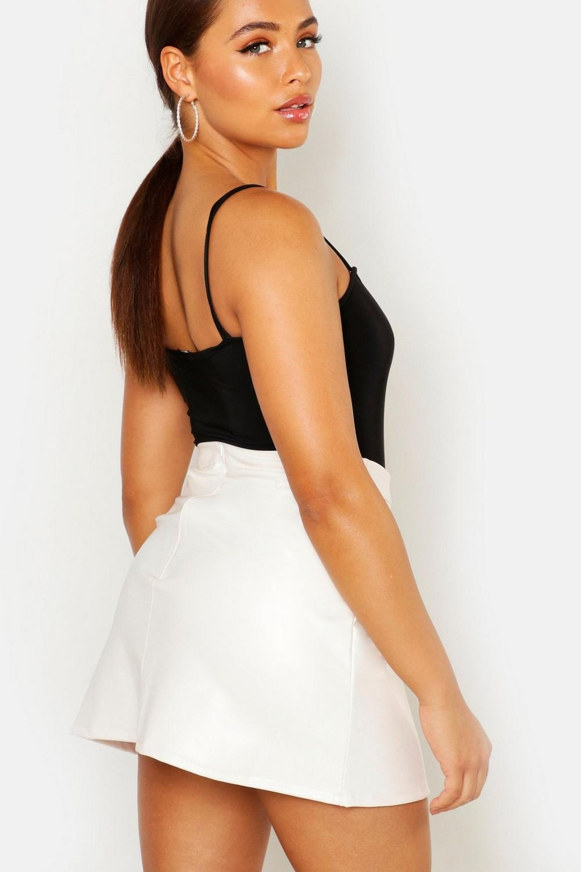boohoo womens leather look a line mini skirt ebay