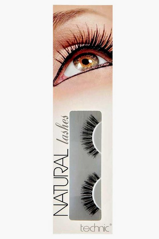 Womens Black Natural False Eyelashes
