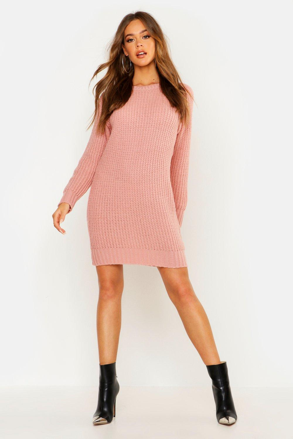 3114830aba Womens Blush Soft Knit Sweater Dress. Hover to zoom