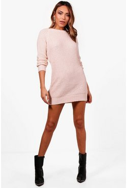 Womens Silver Soft Knit Sweater Dress