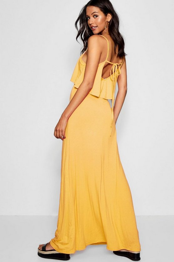 Womens Freesia Tie Back Maxi Dress