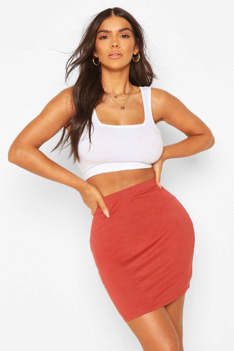 20a75ce7ff Basic Jersey Mini Skirt | Boohoo