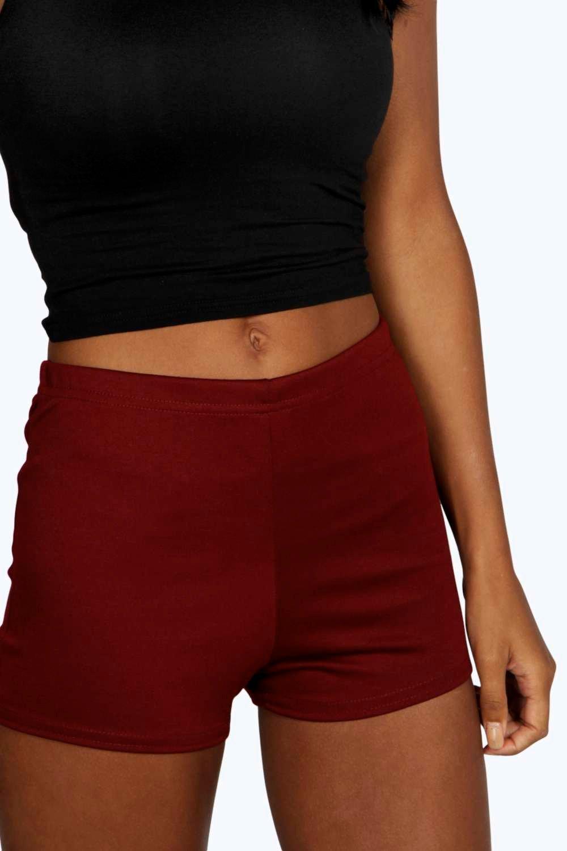 con cintura Minishorts punto en alta roma Caqui wqqapTR