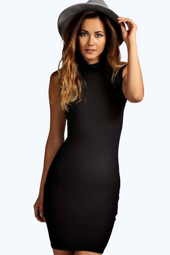 Olivia Cowl Neck Mini Bodycon Dress