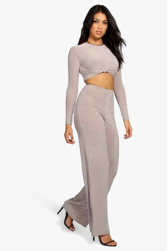 Slinky Top Knot Palazzo Co Ord Set