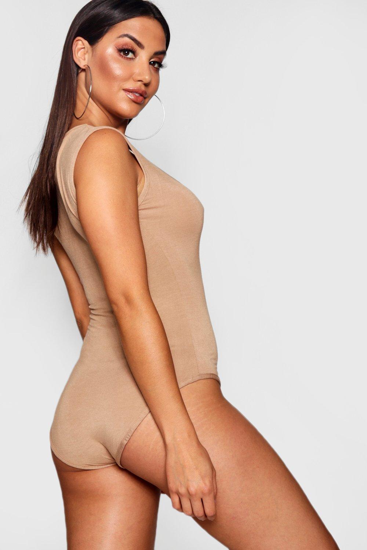 3d5fd6ad55dea Boohoo Womens Basic Sleeveless Bodysuit | eBay