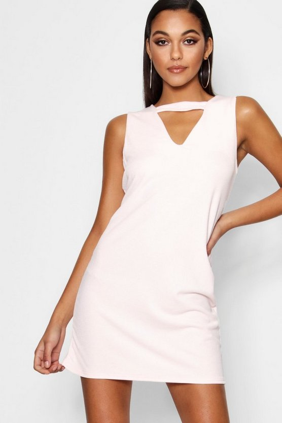 Cut Out Detail Shift Dress