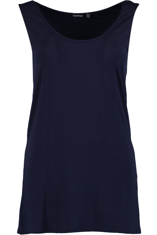 tirantes de marino con larga nadador Camiseta espalda Azul de FfEx8w85