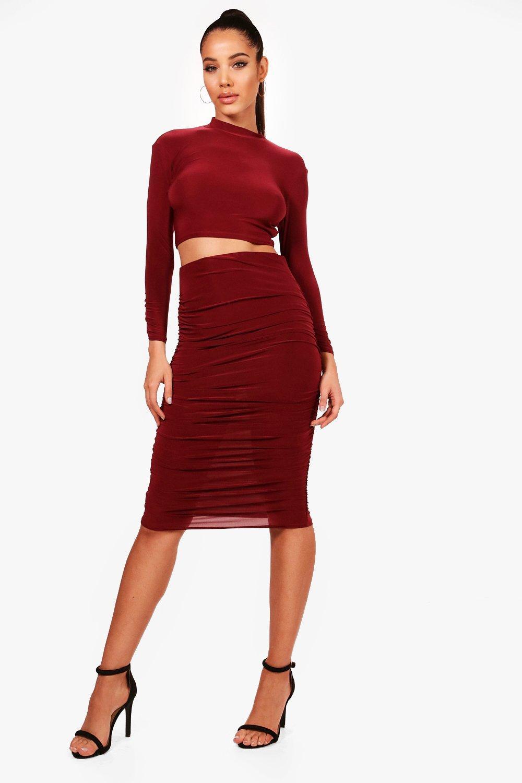 9e64ffa484 Red Midi Skirt Co Ord | Huston Fislar Photography