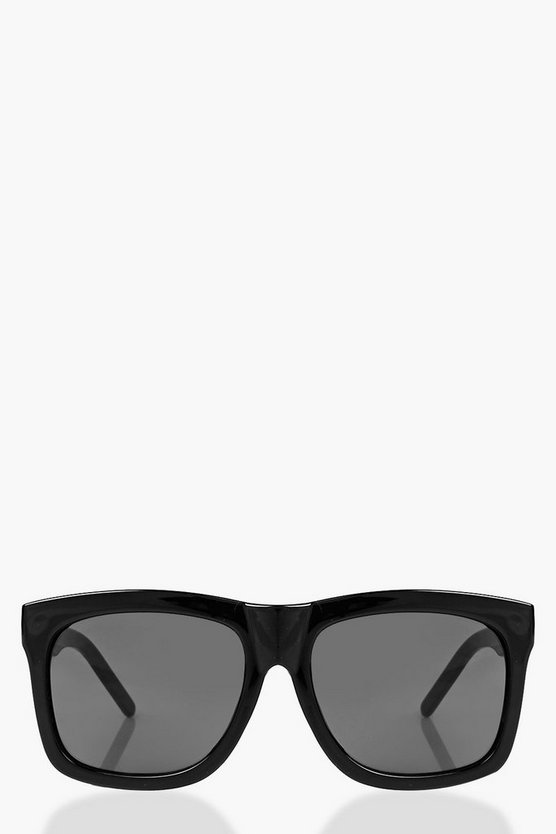 Womens Black Diana Square Frame Fashion Glasses