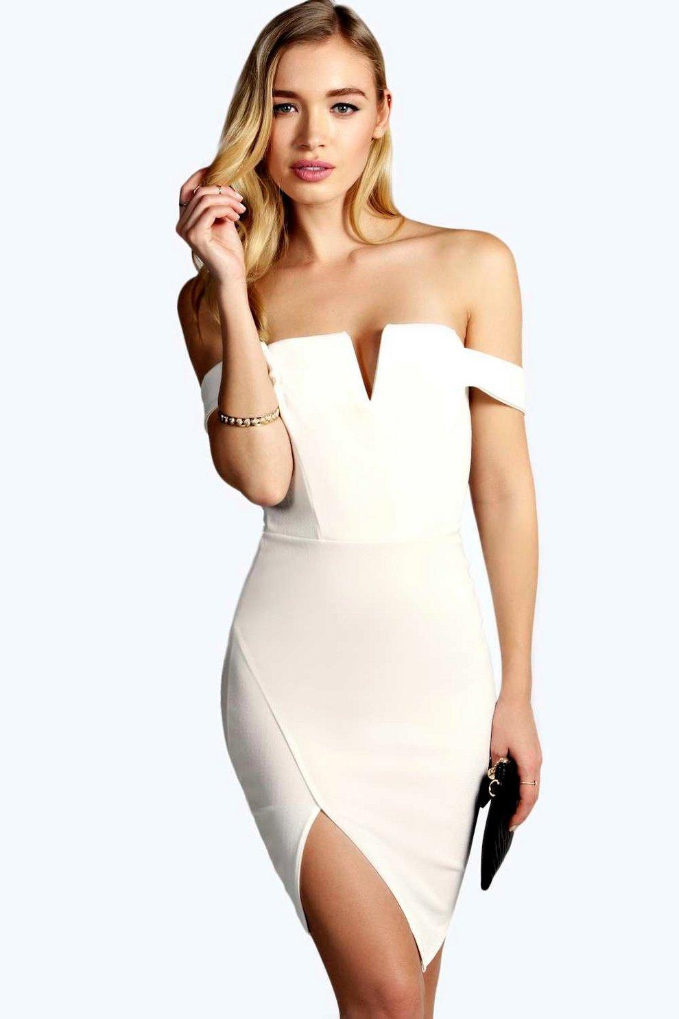 cdd3ee671b2e Lexi Off The Shoulder Bodycon Dress | Boohoo