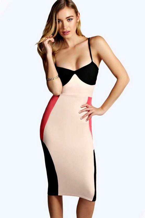 Beatrix Strappy Midi Bodycon Dress