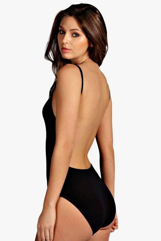 Backless Strappy Slinky Bodysuit