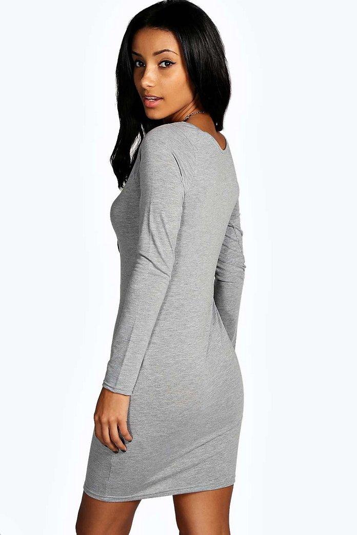 ... Lou Bodycon-Kleid mit Trägern und rafiniertem Detail ...