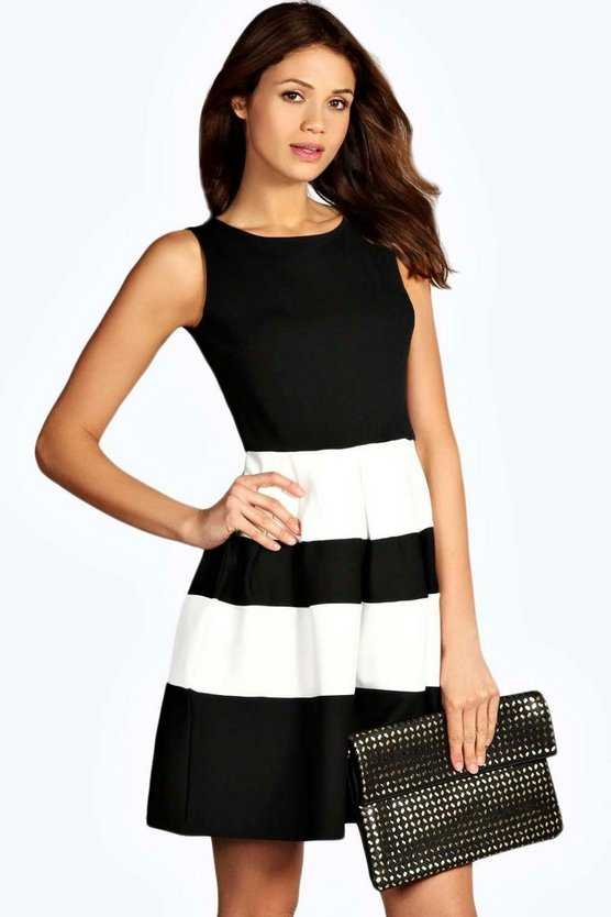 Kate Monochrome Skater Dress