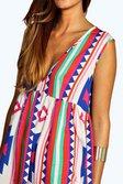 5ea5452cb4ba ... Sophia Large Aztec Woven Smock Dress alternative image