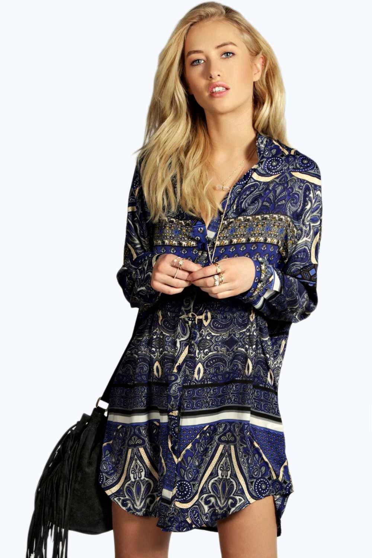 8a8e57cc2de2 ... Paisley Print Shirt Dress. Hover to zoom