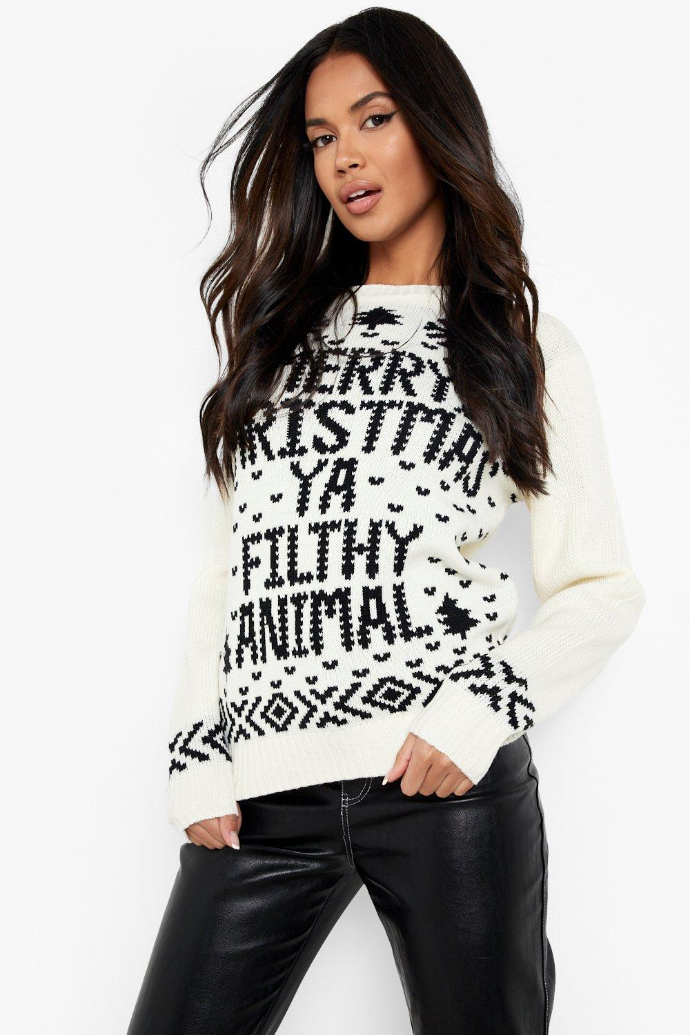 d88b1d1563847 Boohoo Womens Christmas Jumper Sweater Xmas Gift In Multi Colours ...