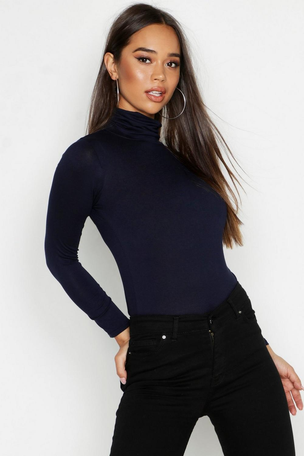 4d30354ec9f36 Close video. Basic Turtle Neck Long Sleeve ...