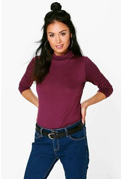 Ruby Basic Turtle Neck Long Sleeve Top