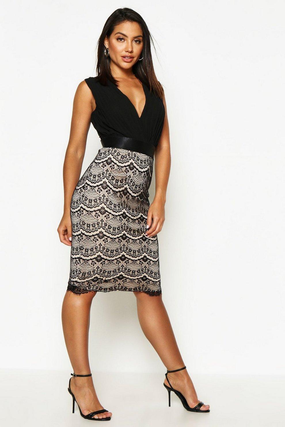 Boutique 2 in 1 Bodycon Midi Dress | Boohoo