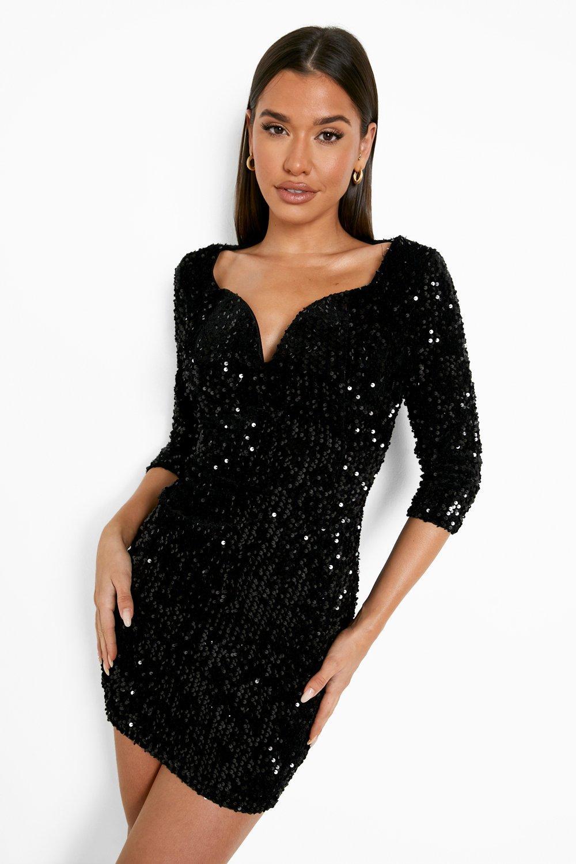 Sequin Bodycon Dress | Boohoo