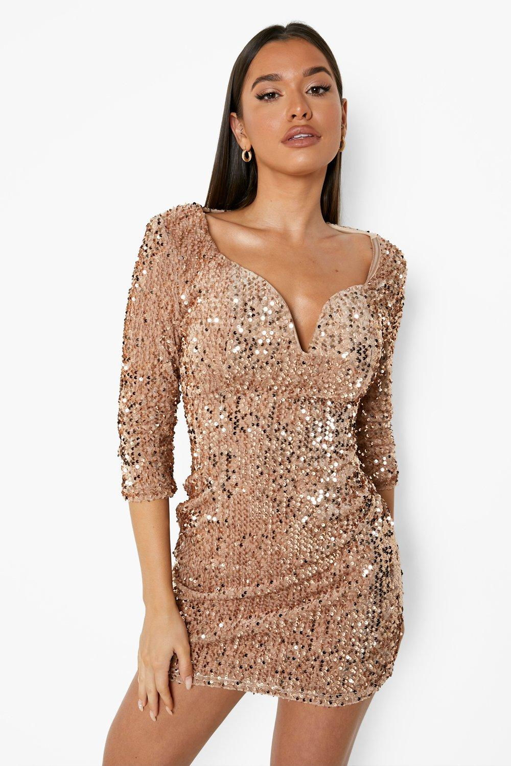 Shop the hottest sequin dresses at Missguided this season and look smokin' in sparkly gold, silver and black. Order today for your party.