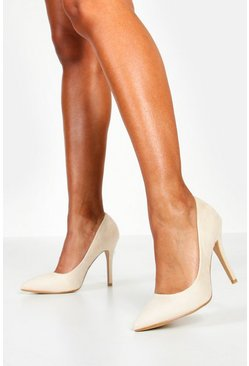 Nude Pointed Court Shoes