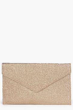 Anne Glitter Envelope Clutch