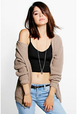 Womens Edge To Edge Grungy Cardigan