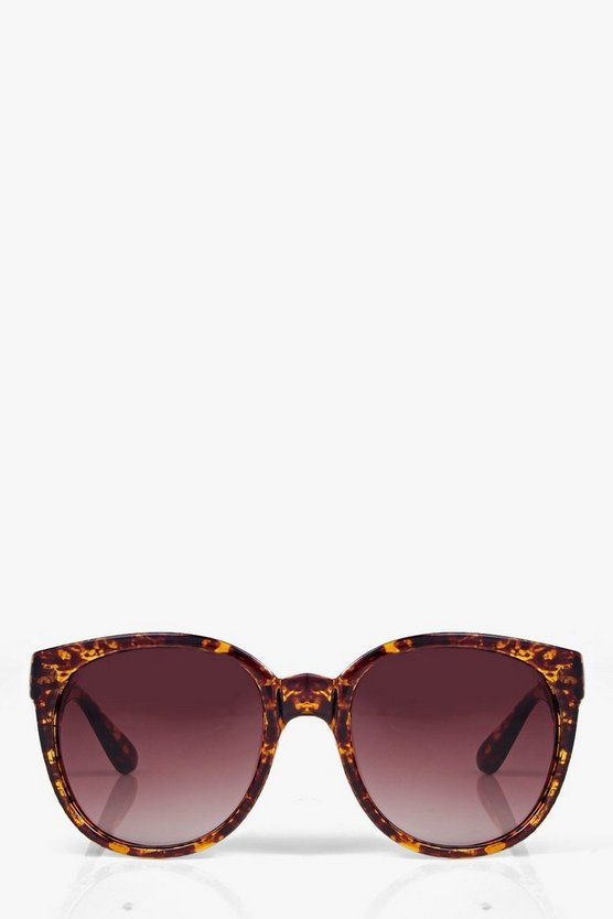 Hayley Tortoise Shell Retro Sunglasses