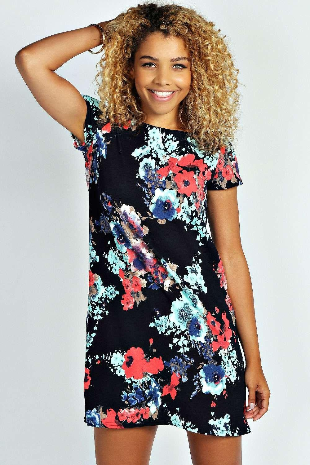 3c5194fddb5e Carley Floral Print Shift Dress. Hover to zoom